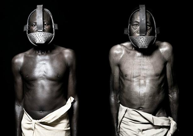 Muselières -  pour les esclaves !!!  Infos - Capitales !!! Fabrice_monteiro_esclaves_fugitifs_masques